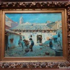 Arte: CUADRO PINTADO AL OLEO SOBRE LIENZO POR GIGNOUX , LUDOVICO. Lote 191512523