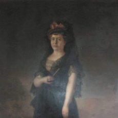 Arte: GIGANTESCO OLEO SIGLO XIX CON ETIQUETA DEL MUSEO NACIONAL(MUSEO DEL PRADO). Lote 191519853