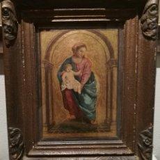 Arte: LA VIRGEN CON EL NIÑO. ESCUELA ITALIANA CIRCA 1800. Lote 191521392