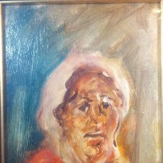 Arte: OLD OIL ON PANEL - ANTONIO DE ATTELLIS - 1964 - CM 48 X 38 - ITALY. Lote 191562663