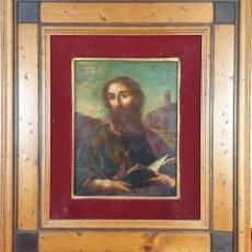 Arte: RETRATO DE SAN PABLO. ÓLEO SOBRE COBRE. ESCUELA ESPAÑOLA. SIGLO XVII. . Lote 191566872