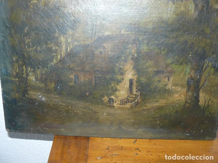 Arte: OLEO SOBRE TELA . FIRMA ILEGIBLE - LA CASA DEL BOSQUE - Foto 4 - 191578656