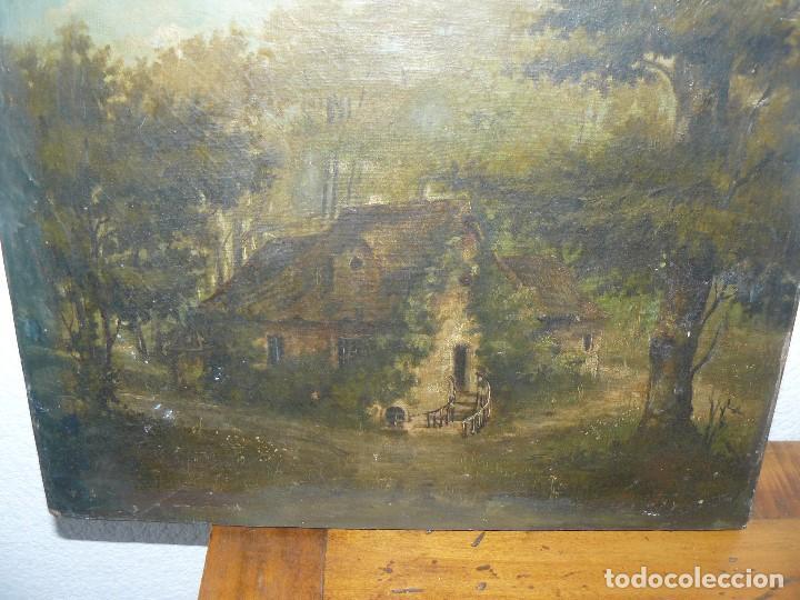 Arte: OLEO SOBRE TELA . FIRMA ILEGIBLE - LA CASA DEL BOSQUE - Foto 5 - 191578656