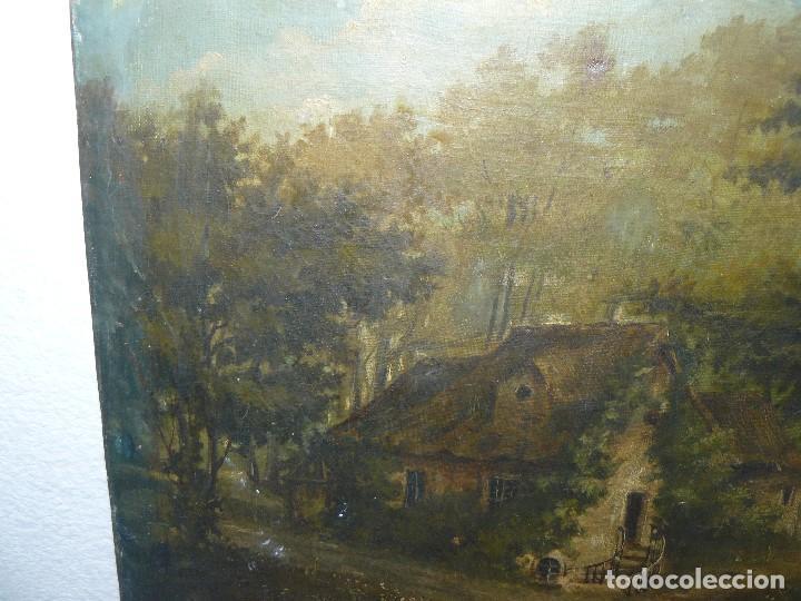 Arte: OLEO SOBRE TELA . FIRMA ILEGIBLE - LA CASA DEL BOSQUE - Foto 6 - 191578656