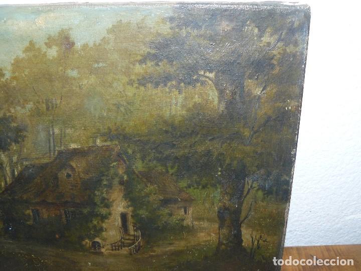 Arte: OLEO SOBRE TELA . FIRMA ILEGIBLE - LA CASA DEL BOSQUE - Foto 7 - 191578656