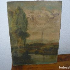 Arte: OLEO SOBRE TELA - ANONIMO - PAISAJE. Lote 191582477