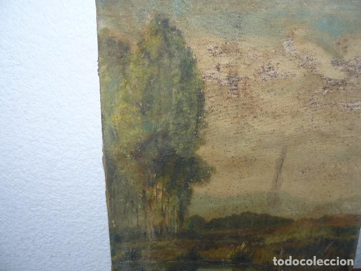 Arte: OLEO SOBRE TELA - ANONIMO - PAISAJE - Foto 2 - 191582477
