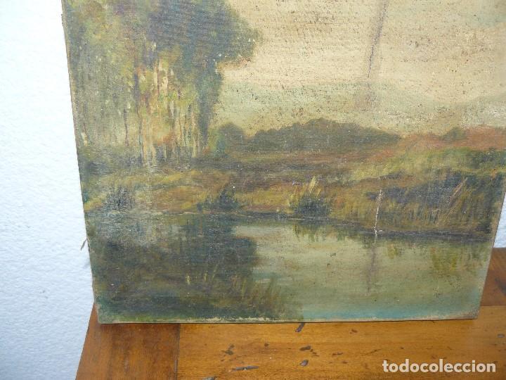 Arte: OLEO SOBRE TELA - ANONIMO - PAISAJE - Foto 3 - 191582477