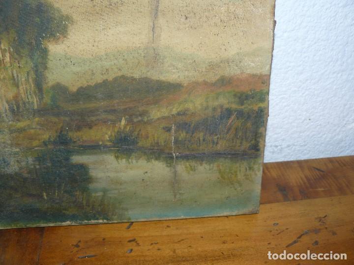 Arte: OLEO SOBRE TELA - ANONIMO - PAISAJE - Foto 4 - 191582477