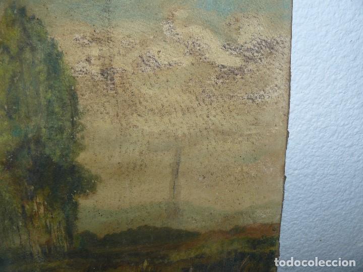 Arte: OLEO SOBRE TELA - ANONIMO - PAISAJE - Foto 5 - 191582477