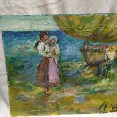 Arte: MARINA IMPRESIONISTA (ORIGINAL). Lote 191583743
