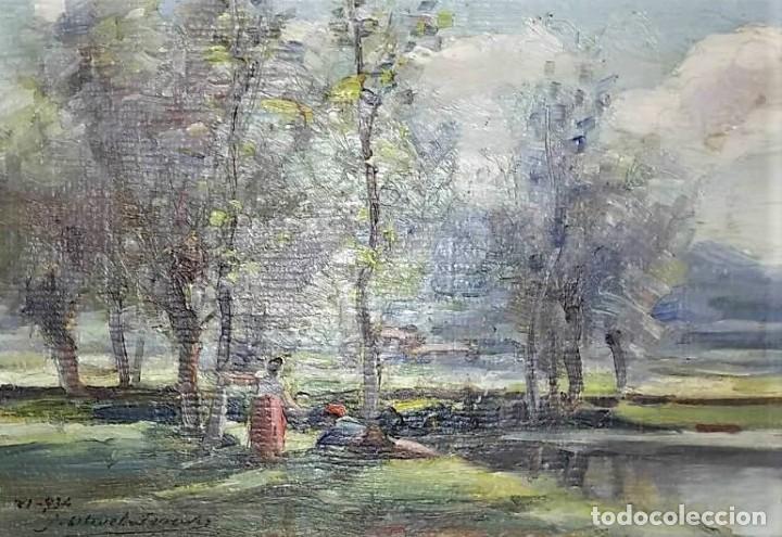 OLIVET LEGARES. PINTURA AL OLEO FIRMADA. 1934 (Arte - Pintura - Pintura al Óleo Contemporánea )