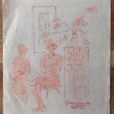 Arte: INTERESANTE PASTEL ORIGINAL FIRMADO Y FECHADO 1948, ESCUELA ALEMANA. Lote 191593045