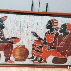 Arte: BONITO CUADRO ARTE AFRICANO FIRMADO. Lote 191598022