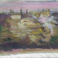 Arte: ANTIGUO PAISAJE IMPRESIONISTA (ORIGINAL). Lote 191623045