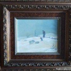 Arte: PAISAJE ASTURIANO DE MANES F. MOLINER, . Lote 191771060