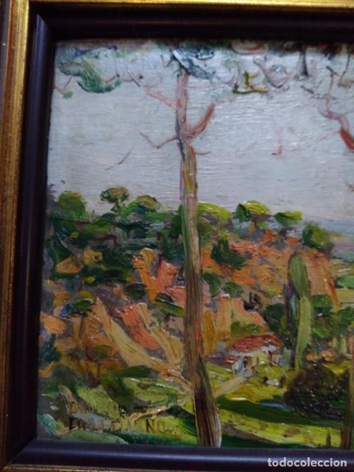 Arte: Paisaje, óleo sobre tabla - Foto 6 - 191777357