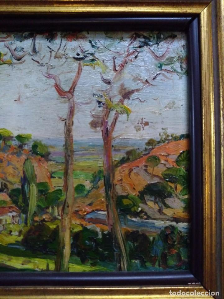 Arte: Paisaje, óleo sobre tabla - Foto 2 - 191777357