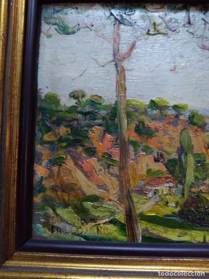 Arte: Paisaje, óleo sobre tabla - Foto 4 - 191777357