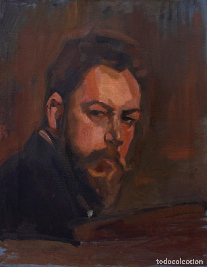 COPIA DE RETRATO DE JOAQUÍN SOROLLA - CARLOS ASENSIO (Arte - Pintura - Pintura al Óleo Contemporánea )