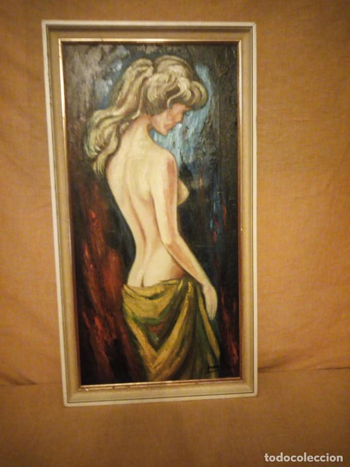 PRECIOSO DESNUDO FEMENINO PINTADO AL OLEO SOBRE LIENZO.FIRMADO MARCOS (Arte - Pintura - Pintura al Óleo Moderna sin fecha definida)