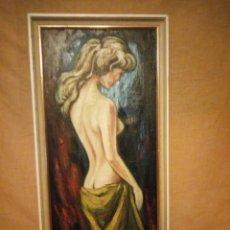 Arte: PRECIOSO DESNUDO FEMENINO PINTADO AL OLEO SOBRE LIENZO.FIRMADO MARCOS. Lote 191829937