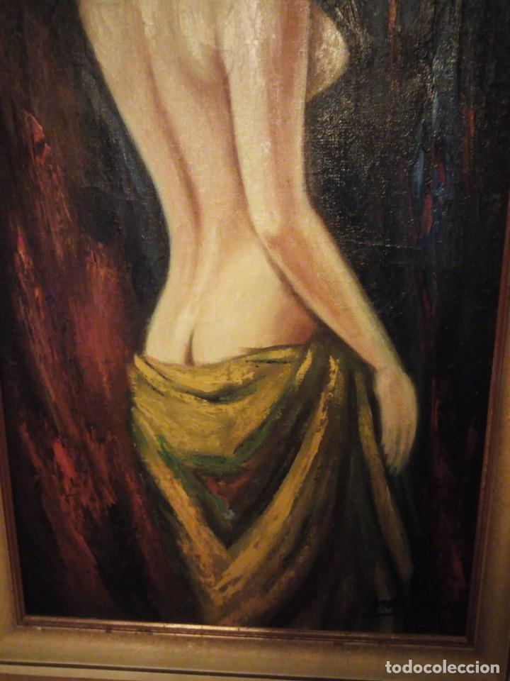 Arte: Precioso desnudo femenino pintado al oleo sobre lienzo.Firmado Marcos - Foto 5 - 191829937