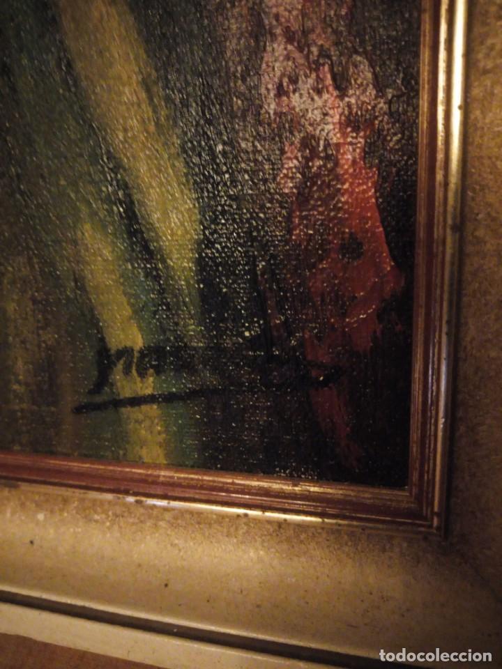 Arte: Precioso desnudo femenino pintado al oleo sobre lienzo.Firmado Marcos - Foto 7 - 191829937