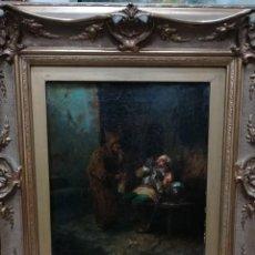 Arte: ESCENA CALLEJERA PINTADA POR JOSE BENLLIURE GIL. Lote 191833975