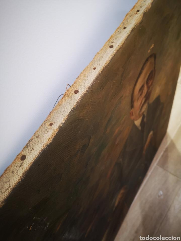 Arte: ANTIGUO RETRATO DE CABALLERO, FINALES DE S.XIX ppos XX, firma ilegible. 93x70cm - Foto 6 - 191915565