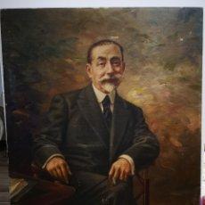 Arte: ANTIGUO RETRATO DE CABALLERO, FINALES DE S.XIX PPOS XX, FIRMA ILEGIBLE. 93X70CM. Lote 191915565