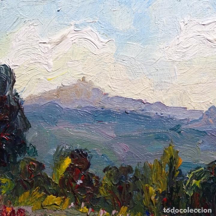 Arte: Óleo sobre cartón ilegible.buen trazo.paisaje. - Foto 4 - 192020127