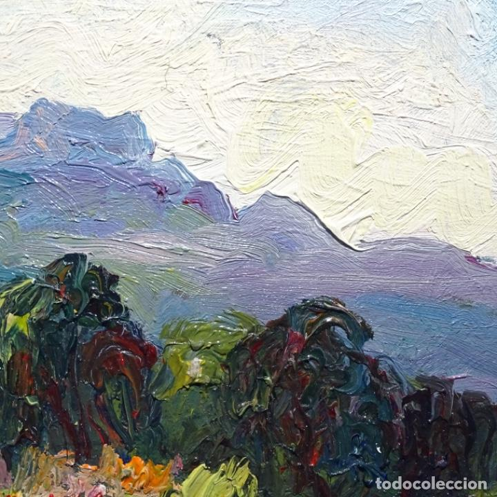 Arte: Óleo sobre cartón ilegible.buen trazo.paisaje. - Foto 7 - 192020127