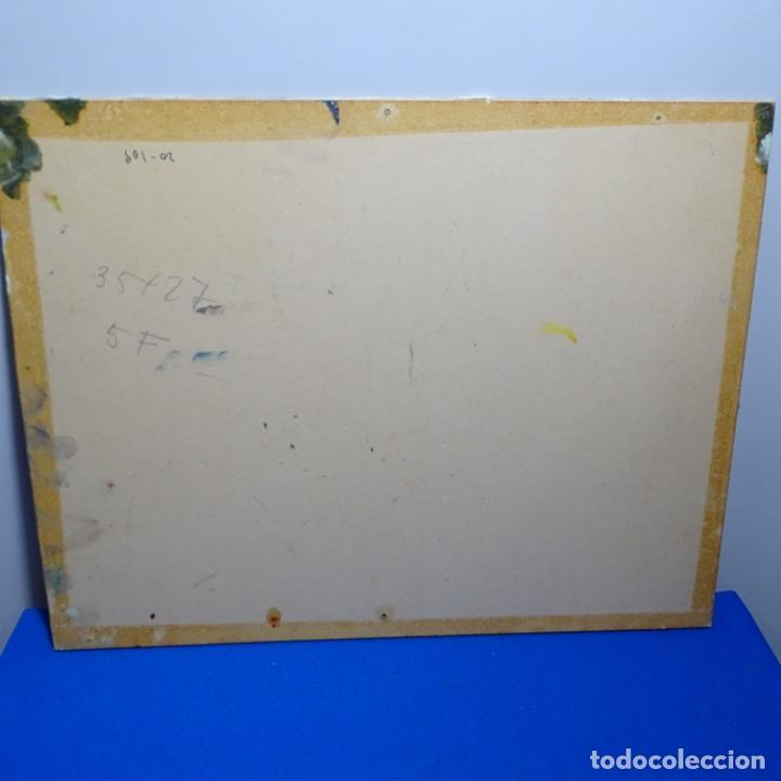 Arte: Óleo sobre cartón ilegible.buen trazo.paisaje. - Foto 9 - 192020127