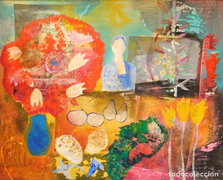 DIEGO LÓPEZ GRANADOS - ÚBEDA(JAÉN) 1.959 COLLAGE TÉCNICA MIXTA (Arte - Pintura - Pintura al Óleo Moderna sin fecha definida)