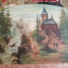 Arte: CUADRO OLEO LIENZO L ANGUIS 47 CM X 37 CM. Lote 192048162
