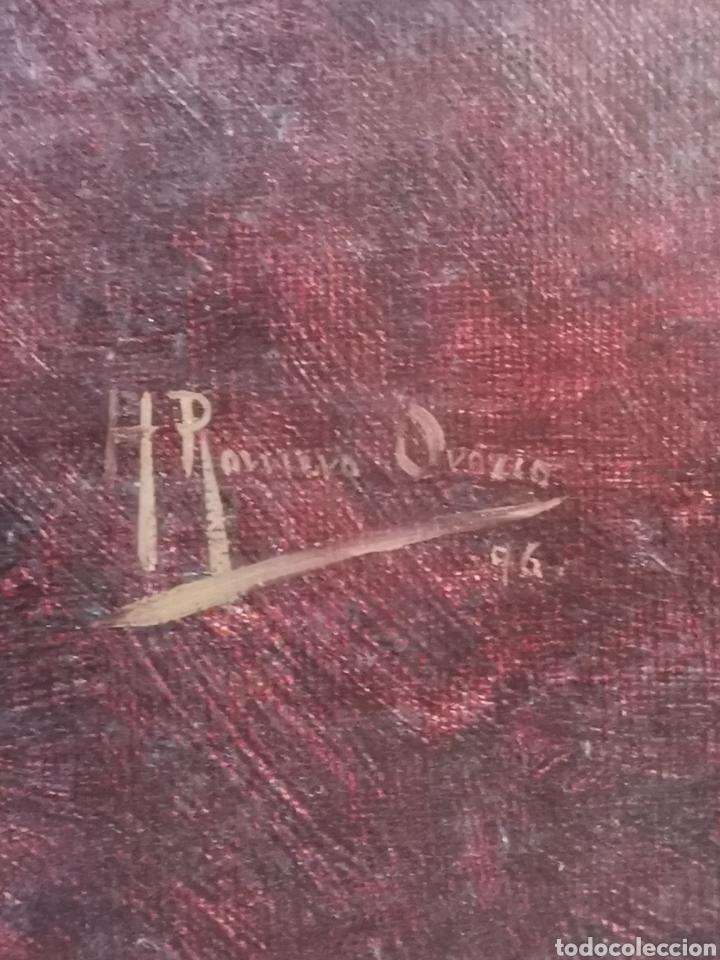 Arte: Honorio ROMERO OROZCO (1867-1920) OLEO SOBRE LIENZO, RETRATO SEÑORA 56X71CM - Foto 3 - 192066542