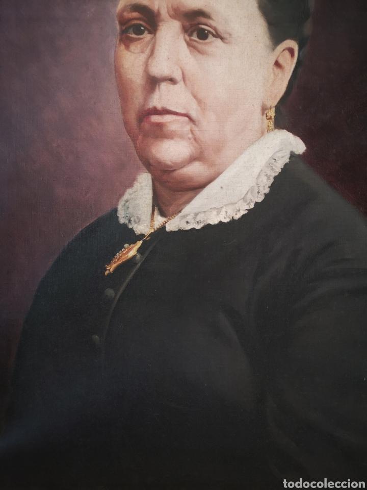 Arte: Honorio ROMERO OROZCO (1867-1920) OLEO SOBRE LIENZO, RETRATO SEÑORA 56X71CM - Foto 4 - 192066542
