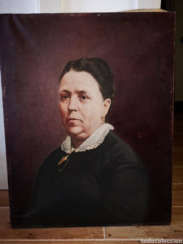 HONORIO ROMERO OROZCO (1867-1920) OLEO SOBRE LIENZO, RETRATO SEÑORA 56X71CM (Arte - Pintura - Pintura al Óleo Moderna siglo XIX)