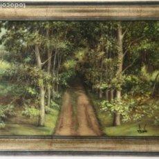 Arte: PAISAGE DE LA FAGEDA OLOT- OLEO SOBRE TABLA FIRMADO 1998.. Lote 192132573