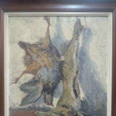 Arte: CELIA ÓLEO SOBRE TABLEX BODEGÓN CAZA MALLORCA BALEARES. Lote 192194175