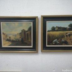 Arte: PINTURA AUTOGRAFO F. BUENO. Lote 192211662