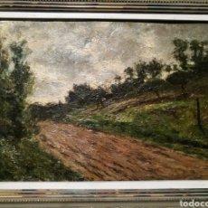 Arte: CAMINO RURAL POR FRANCESC GIMENO (1858-1927). Lote 192241453