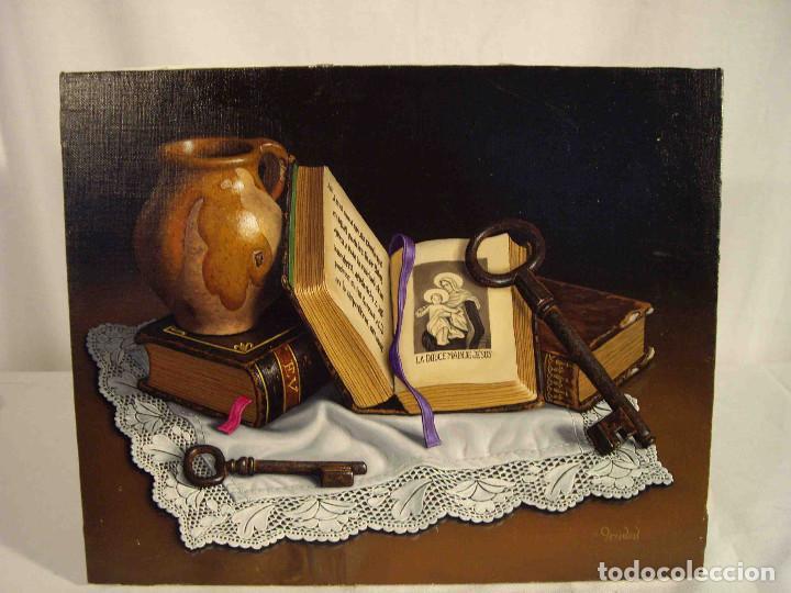 OLEO BODEGON PAÑO PUNTILLA PRADAL (Arte - Pintura - Pintura al Óleo Contemporánea )