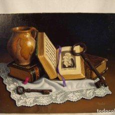 Arte: OLEO BODEGON PAÑO PUNTILLA PRADAL. Lote 192253966