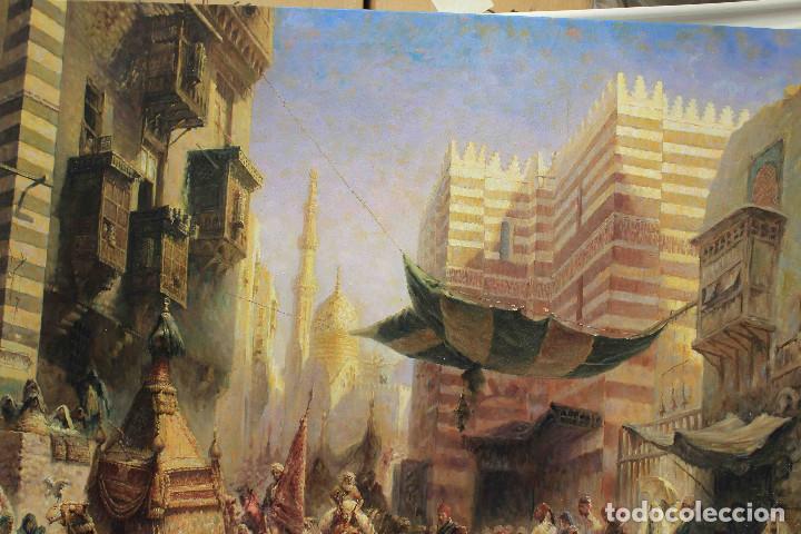 Arte: OLEO LIENZO CARAVANA PERSA - Foto 5 - 192254605