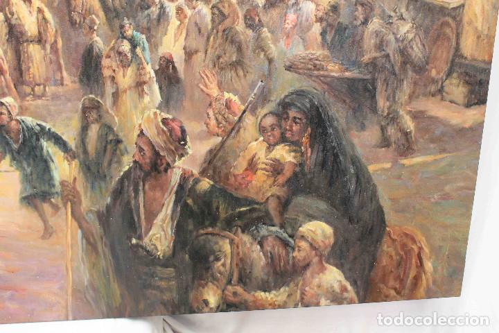 Arte: OLEO LIENZO CARAVANA PERSA - Foto 6 - 192254605