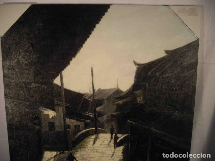 Arte: OLEO SOBRE LIENZO CALLE TIBETANA - Foto 3 - 192254910