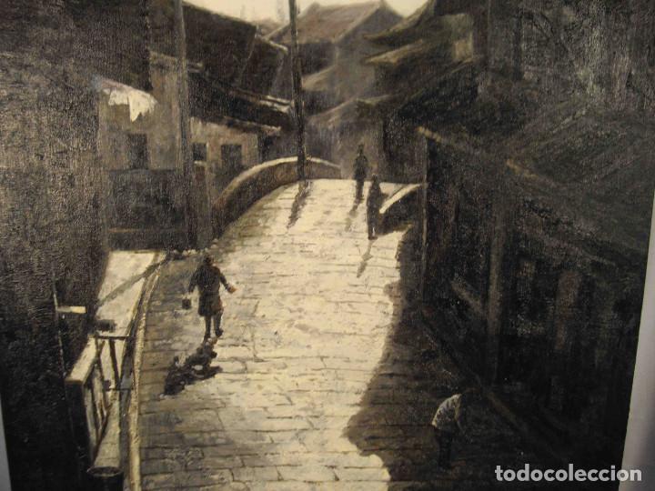 Arte: OLEO SOBRE LIENZO CALLE TIBETANA - Foto 4 - 192254910