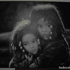 Arte: OLEO DOS NIÑAS TIBETANAS. Lote 192255231